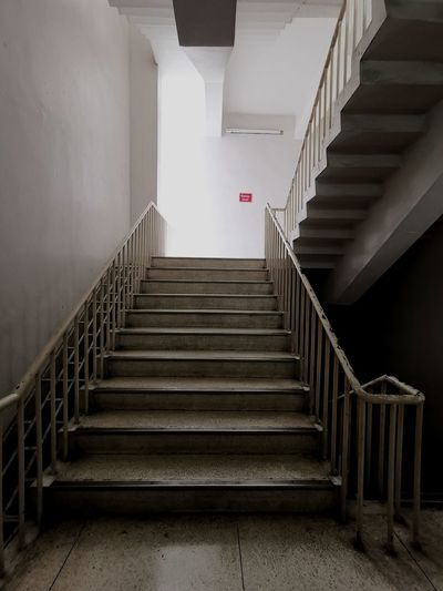Stairs in the building.