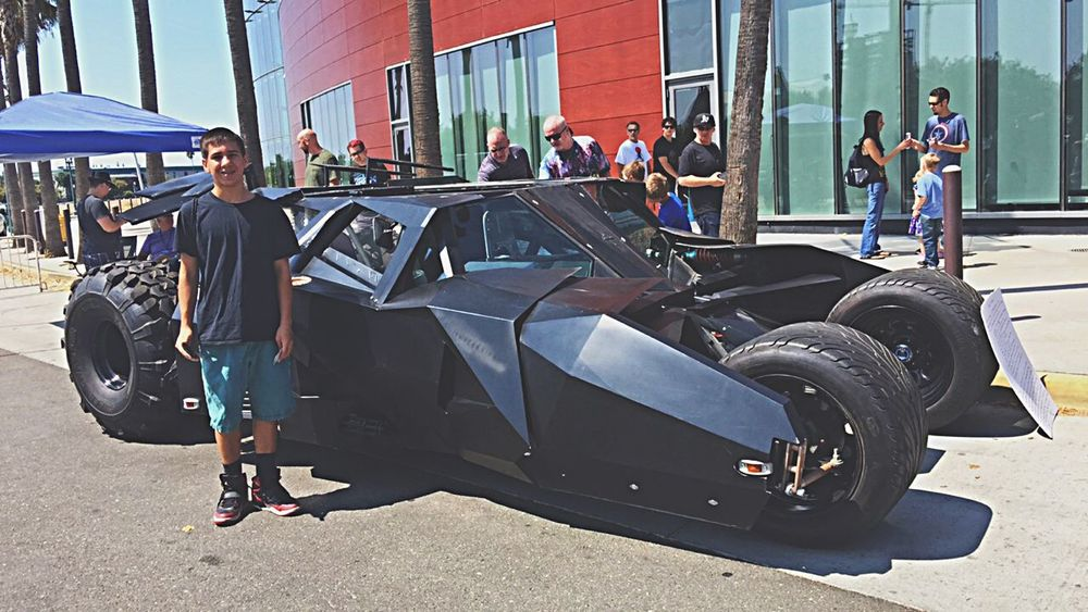 Bat mobile! Batman Stocktoncon Comiccon2015 Cousin Cool Batmobile