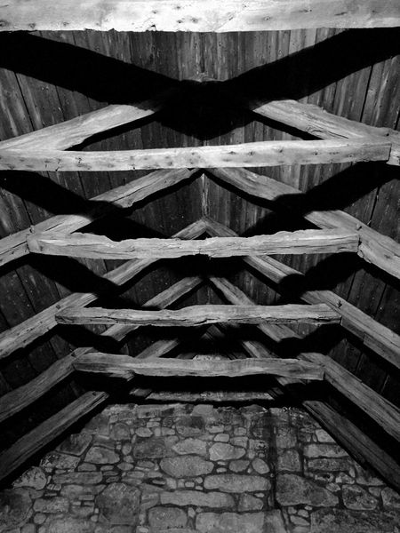 Rafters Timber Castle Roof Black And White Geometric Shapes