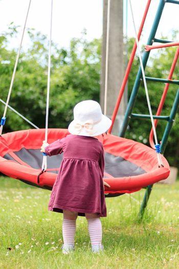 Playground Childhood One Person Leisure Activity Girls Child Females Swing Day Fun