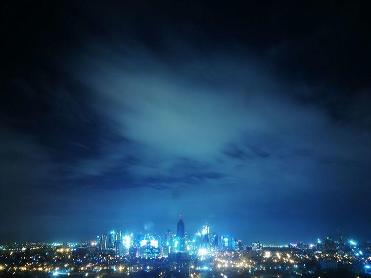Manila nights Skyscraper Cloud - Sky City Night Cityscape