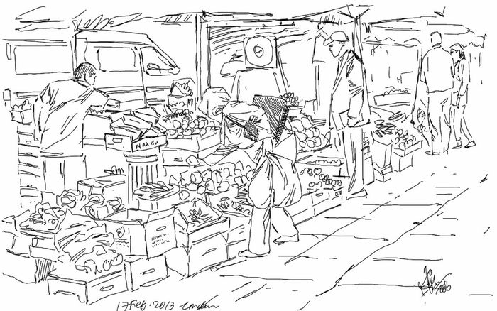 Street Market Sketch Street Trader Kaay