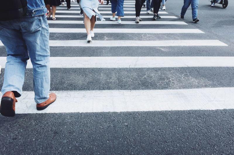 Run run run City Road Body Part Crossing Human Leg Crosswalk Road Marking Street Zebra Crossing City Life