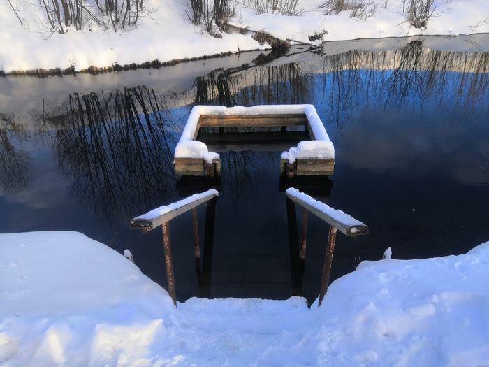 Ice hole  christmas bathing.  epiphany bathing.  epiphany frosts.