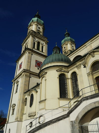 Basilika St. Lorenz Kempten Architecture Basilika St. Lorenz Kempten Built Structure City Clock Clock Face Clock Tower Day Dome Government History Illuminated Low Angle View No People Outdoors Politics And Government Sky Tourism Tower Travel Travel Destinations