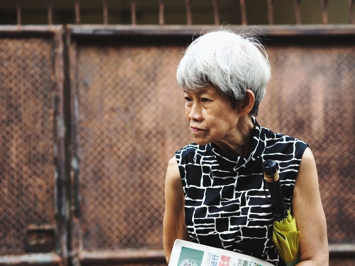 Old Woman EyeEm Selects Streetphotography INDONESIA Portrait People White Hair White Haired Woman Old People Woman Woman Portrait Fashion City Healthy Lifestyle Close-up Casual Clothing