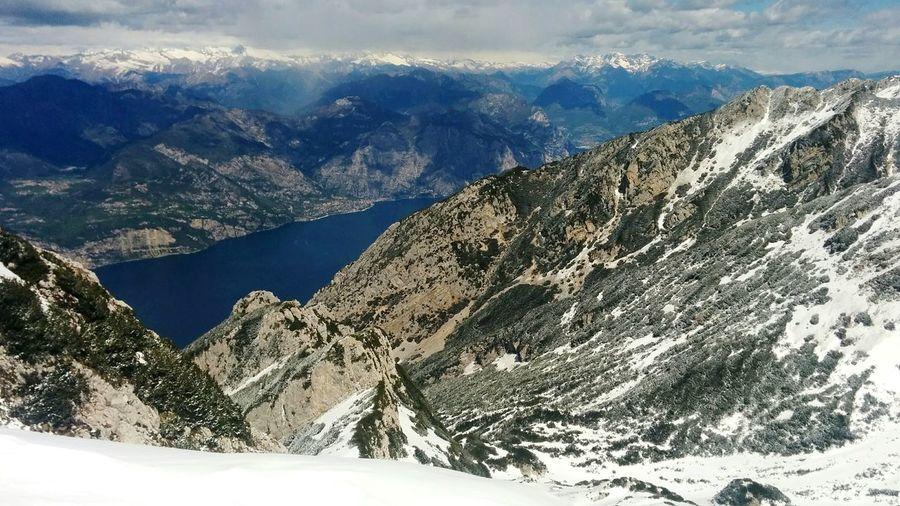 Uno spicchio di lago Garda Lake Monte Baldo OverviewPoint Peak Mountains And Sky White Color The Great Outdoors - 2016 EyeEm Awards