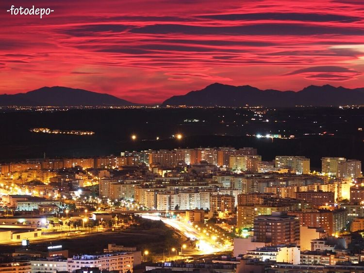 Clouds Night Sunset Night Lights Clouds And Sky Atardecer Buildings Long Exposure Alicante Noche Fotodepo