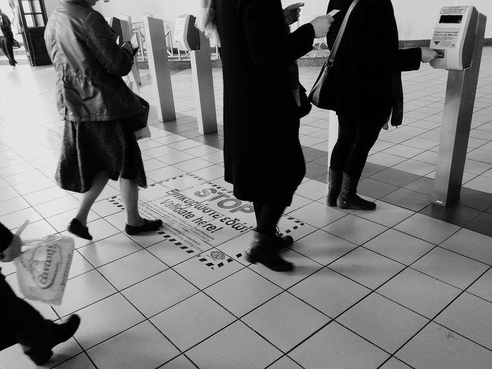 Urban People Metro Metro Station Greek Metro Ticket Tickets Validation