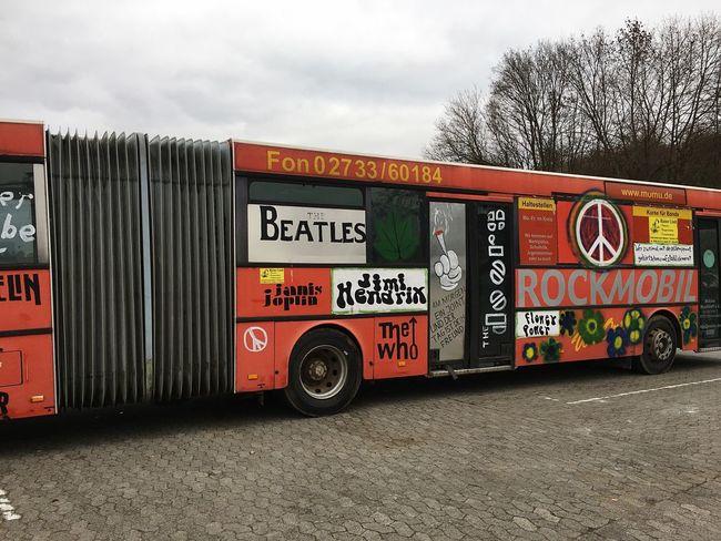 Red Color Bus Woodstock Musiclovers Oldbusesarebetter Artists Rocknroll