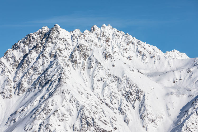 European Alps Extreme Skiing Südtirol Winter Sport Wintersport Alps Avalanche  Beauty In Nature Blue Cold Temperature Day Landscape Mountain Mountain Range Nature No People Outdoors Range Scenics Sky Snow Snowcapped Mountain Summit Tranquil Scene Tranquility Weather White Color Winter
