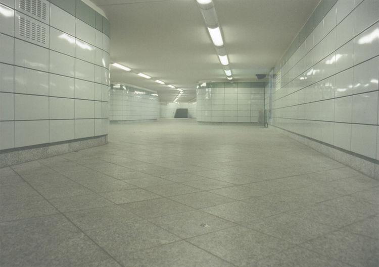Walkway in corridor of building
