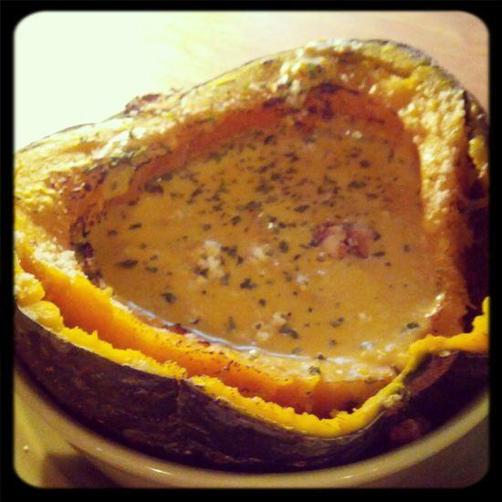 Sweet pumpkin soup At Caffe