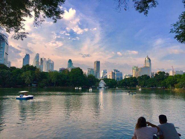 EyeEmNewHere Thailand Travel Travel Destinations Travel Photography Fernweh View Lumphini Park Veiw BKK Bangkok Lake Lake View City Cityscape Skyline