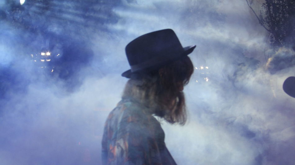 Animal Themes Day Hat Live Music Photography Nature One Person Outdoors People Real People Sky Smoke - Physical Structure Standing