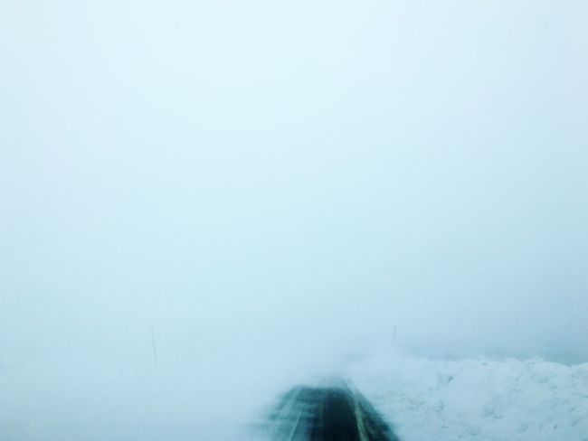Zero Visibility It's Cold Outside On The Road Winter Travel Photography