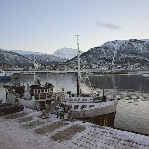 Taking a bath in the Norwegian Sea above the polar circle in the winter. Check. Norway Tromso Spaboat Harbour Winter Beautiful Amazingnorth Polarnights