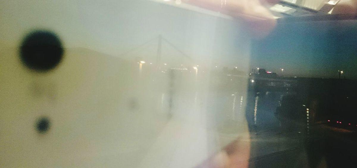 Last evening /// Taking Photos Landscape Skyline Train Smartphone Night Reflection Urban Mirror Going Home