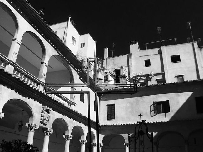 Architecture Black & White Building Exterior Built Structure Cathedral City Cross Day Historical Building Large Group Of People Low Angle View Mallorca Men Outdoors Palma De Mallorca People Real People Religion Sky