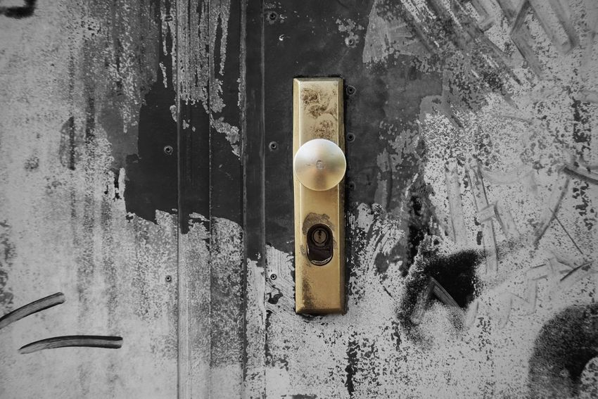 Lock No People Indoors  Close-up Protection Security Metal Day Wall - Building Feature Safety Door Pattern Entrance Architecture Built Structure Full Frame Directly Above