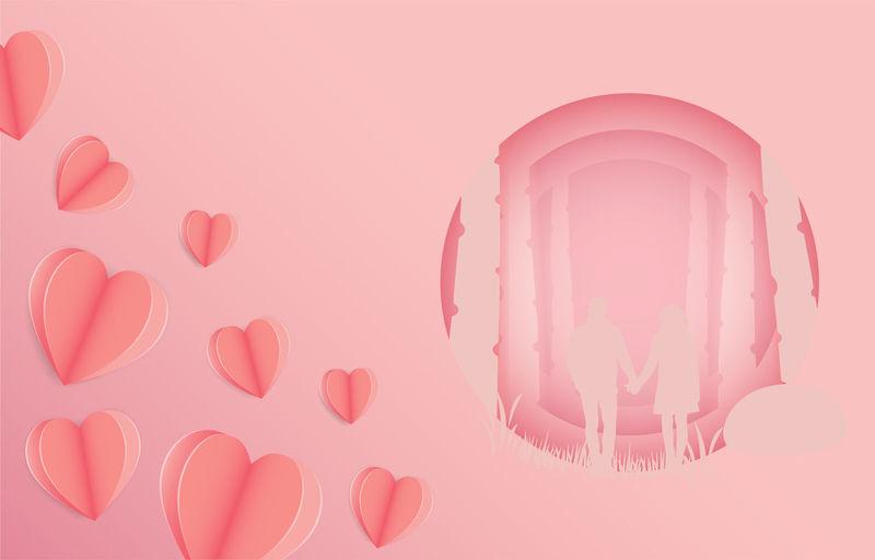 Digital composite image of pink background