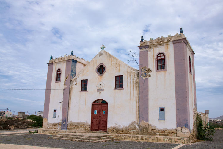 Church at Rabil, Boa Vista, Cape Verde Boa Vista Cabo Verdé Sal Rei Cape Verde Rabil Church Rabil, Boa Vista Sal Rei Africa Architecture Boa Vista, Cabo Verde Building Exterior Built Structure Cabo Verde Cabo Verde Africa Cape Verdean Cloud - Sky Day Low Angle View No People Outdoors Place Of Worship Rabil Religion Sky Spirituality Travel Destinations