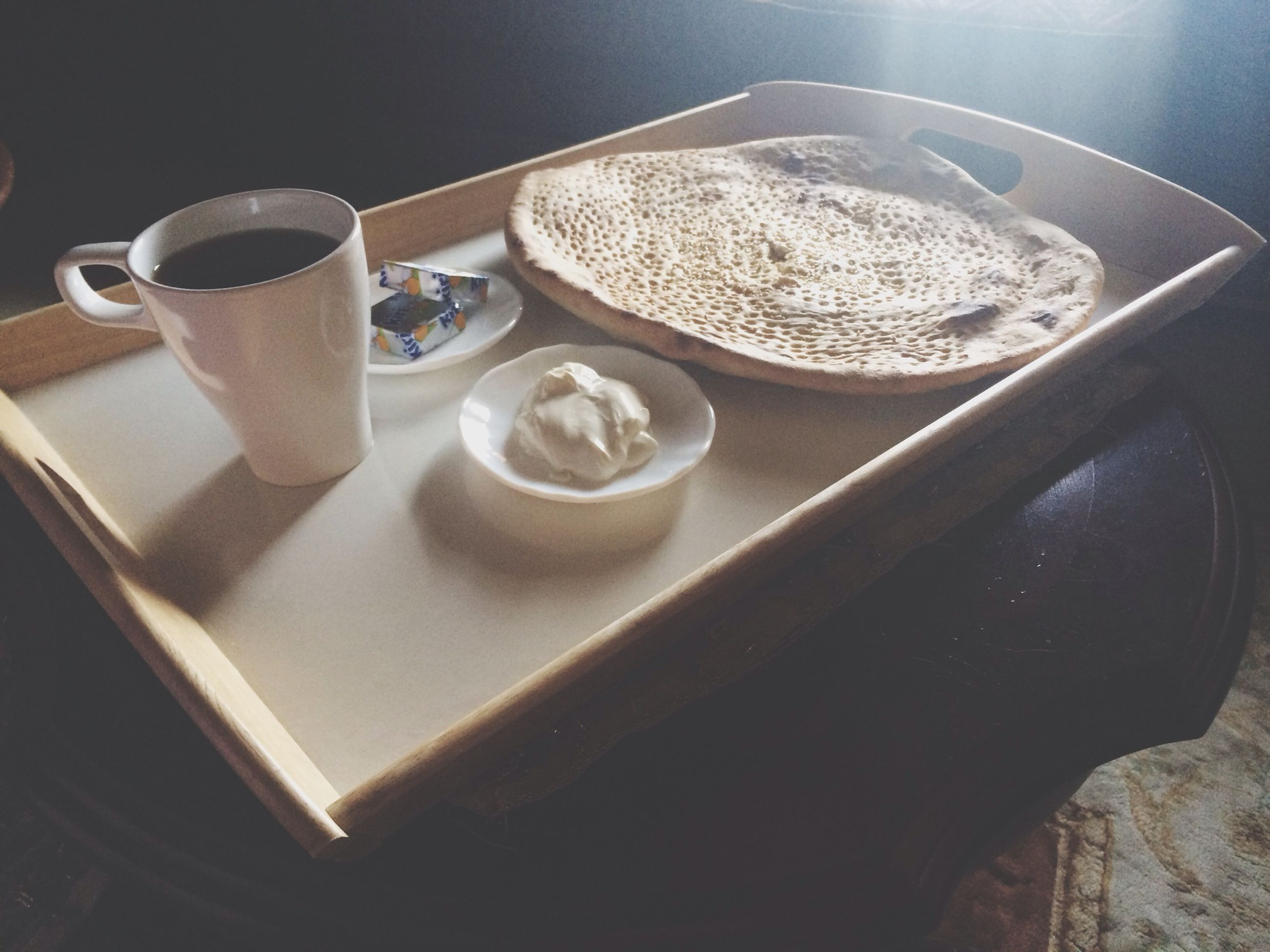 food and drink, coffee cup, indoors, table, drink, coffee - drink, refreshment, still life, high angle view, spoon, saucer, freshness, cup, coffee, close-up, frothy drink, tea cup, plate, no people, breakfast