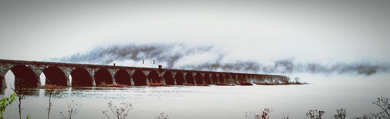 Rockville Bridge Harrisburg Stone Bridge Check This Out Pennsylvania Fog Susquehanna River
