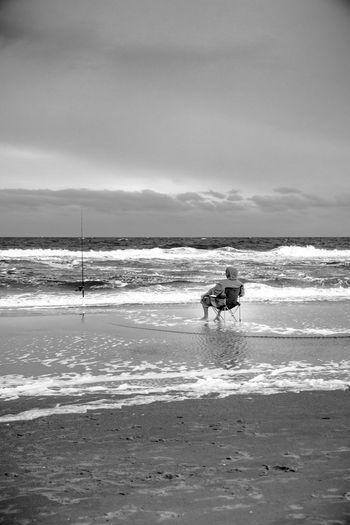 Surf-fishing on