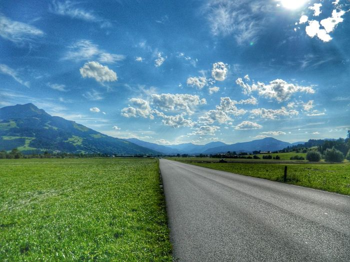 Mountain Road Rural Scene Agriculture Field Sky Landscape Grass
