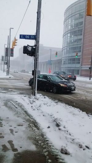 Snowing City Snow ❄ Snowy Day Cleveland Ohio