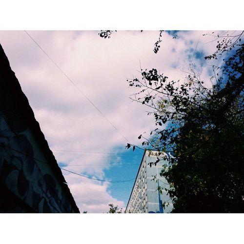 Ох уж это небо над Отрадным ♥ небо отрадное Москва Россия свао осень синий sky moscow russia svao blue