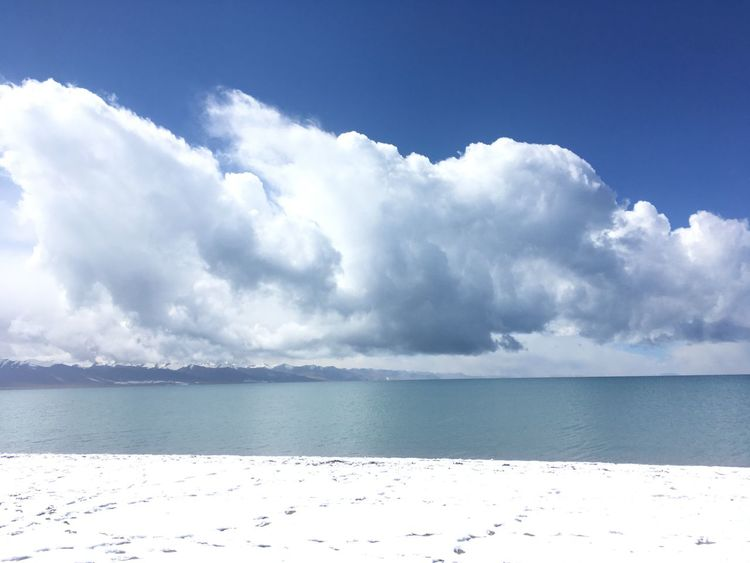 Purity Cloudy Beach Lake