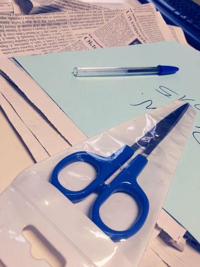 Pen Pieces Of Newspapers, Scissors Office