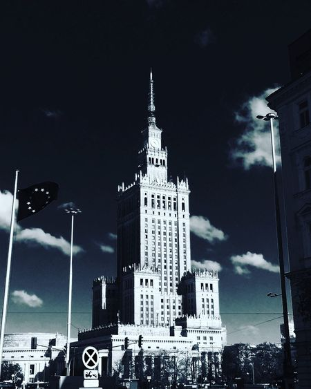 Palace of Culture and Science Architecture socrealism Night Building Exterior Travel Travel Destinations No People Tower City Illuminated Outdoors Façade Sky Low Angle View Skyscraper First Eyeem Photo