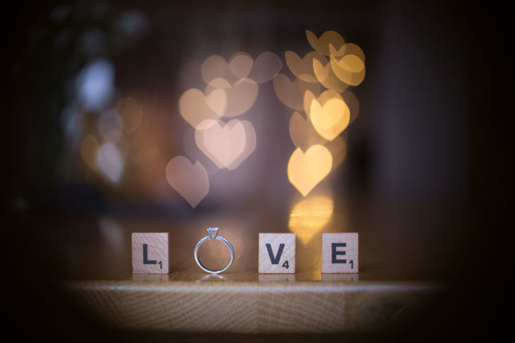 Love your wife, love your life! Bokeh Close-up Engagement Engagement Ring Heart Shaped Bokeh Love My Wife❤️ Love ♥ Nifty Fifty Ring Scrabble Text