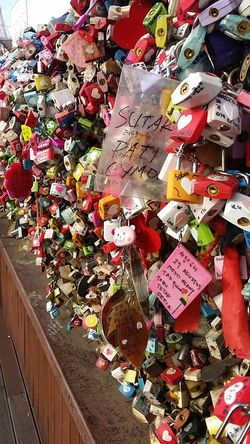 Large Group Of Objects Outdoors Multi Colored Close-up Abundance No People Namsan Tower  Lock Your Love Superstitious, Mythical, Irrational, Illusory, Groundless, Unfounded; Traditional Rethink Things