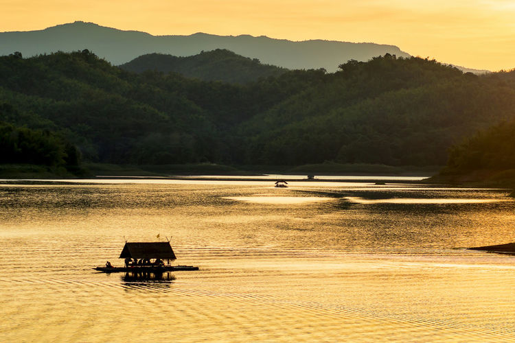 Travel Destinations Travel Thailand No People Nature Mountain Forest Environment Beauty In Nature Landscape Sunset Outdoors Water Transportation River Reflection Relaxing