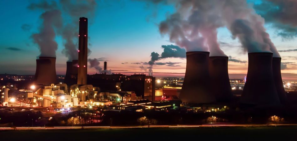Pollution Of The Environment Building Exterior Factory Smoke Stack Smoke - Physical Structure Pollution Architecture Built Structure