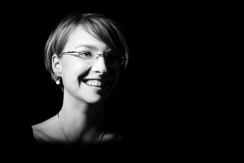 Goodfeelography day 2: Light & shadow experiences with beloved Stefanie Jost. Studio Shot Headshot Black Background One Person Looking At Camera Beautiful Woman Portrait Beauty Real People Young Adult Eyeglasses  Close-up One Woman Only Women Only Women Young Women Adult Makeportraits Adults Only Blackandwhite Photography Black & White Black And White Blackandwhite Black And White Photography