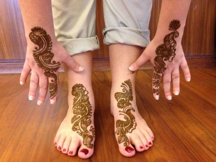India Tatuaggio Henne Matrimonio Decorazione Invitati Matrimonioindiano