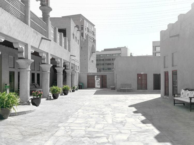 Sheikh Saeed Al Maktoum House, Dubai Architecture Building Exterior Built Structure City Cityscape Day Historical Building Modern No People Outdoors Sky