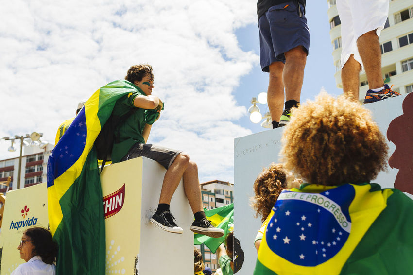 Brazilian Flag Casual Clothing Cloud Cloud - Sky Dilma Roussef Flag Medium Group Of People No Corruption Peacefull Protests Presidential Impeachment Protests Protests In Brazil Ptsd Awareness Riot Sky Sunny Day The Photojournalist - 2016 EyeEm Awards Fuji Astia