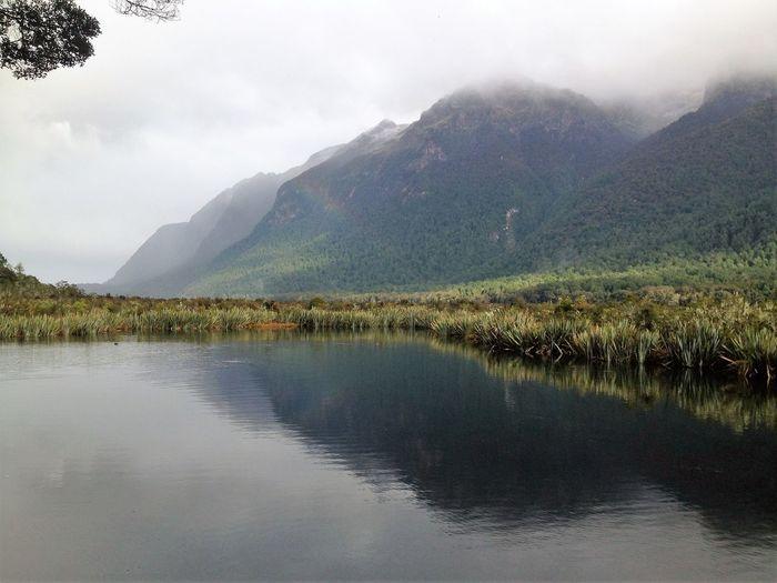 Mirror Lake Cloudy Day Lake Lake View Love Nature New Zealand Beauty New Zealand Impressions New Zealand Natural New Zealand Scenery Rainbow Southislandnz