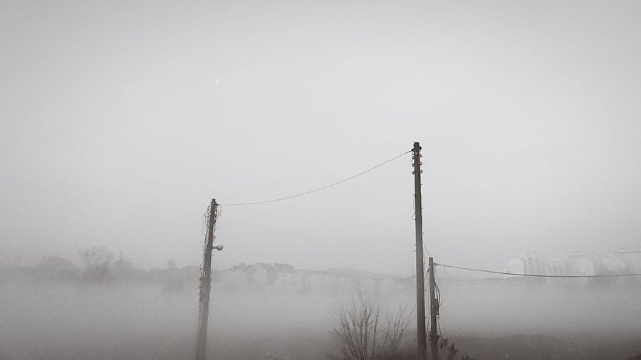 EyeEmNewHere Fog Power Line  Tranquility Power Supply Sky Landscape Beauty In Nature Morning Welcom Weekly Welcomeweekly Leechangwon IPhoneography