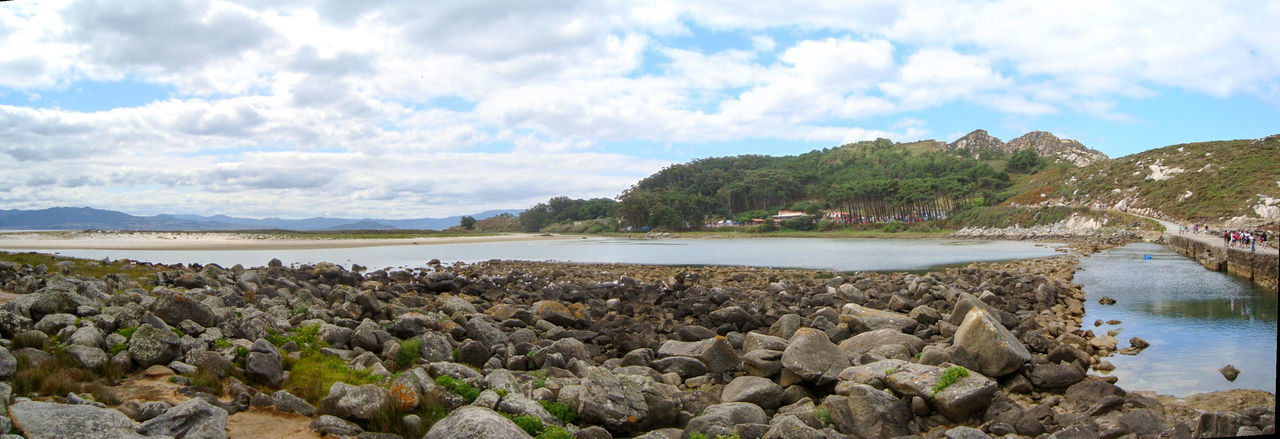 SPAIN Galicia Island 2010 Lagoon Beach Sea Rock - Object Nature Cloud - Sky Water Outdoors Scenics Travel Destinations Landscape Day Sky