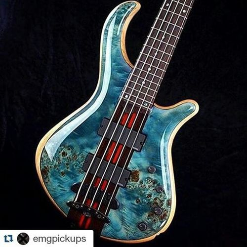 Repost @emgpickups with @repostapp ・・・ This bass from @mayonesguitars deserves endless amounts of attention. The definition of perfection. Emgpickups Solderless Activepickups Pickupfam Bassforward