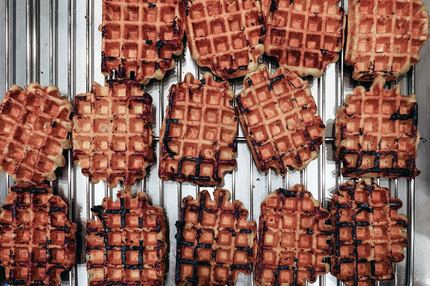 Waffle Abundance Arrangement Backgrounds Close-up Day Delicious Food Food And Drink Freshness Indoors  Large Group Of Objects No People Ready-to-eat Sweet Food