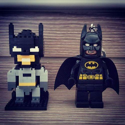 SD vs HD LOL Batman Iblock Nanoblock LEGO Lowresvshighres Darkknight DCcomic Keychain