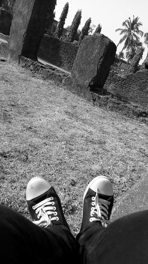Fort Shoes ♥ Outdoors Blackandwhite Daman, India